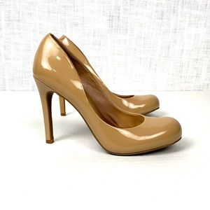 Jessica Simpson Callie nude patent leather pumps